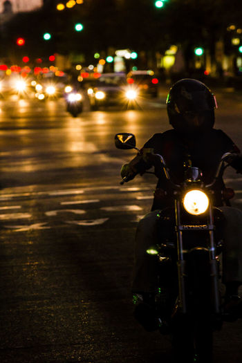 Bikers Canon Canon550D Canonphotography City Custom Film Photography Illuminated Kymco Lifestyles Light Lights In The Dark Madrid Madrid Spain Men Mode Of Transport Motorbike Motorcycle Night Nightcitylights One Person People Rebel Road Street