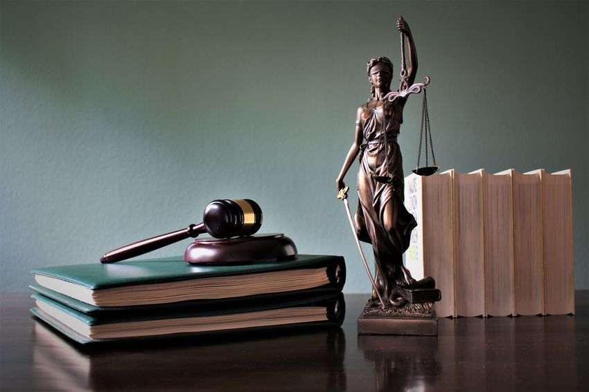 An concept image of justice Court Justitia Lawyer Sign Concept Courtroom Judge Judgment Judicial Justice Law Lawyers Legal Litigation Punishment Symbol