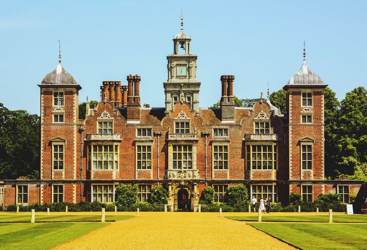 Blickling House Norfolk Tudor Architecture Henry VIII Ann Boleyn Blickling Hall Architecture Built Structure Sky Building Exterior Building Nature Clear Sky Outdoors Façade Sunlight History No People The Past Day Grass