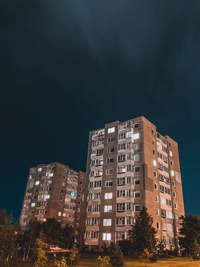 one night in Vilnius Architecture Building Exterior City Illuminated Long Exposure Longexposure Longexposure_shots Longexposureoftheday Longexposurephotography Low Angle View Modern Night No People Outdoors Residential  Sky Skyscraper Tree