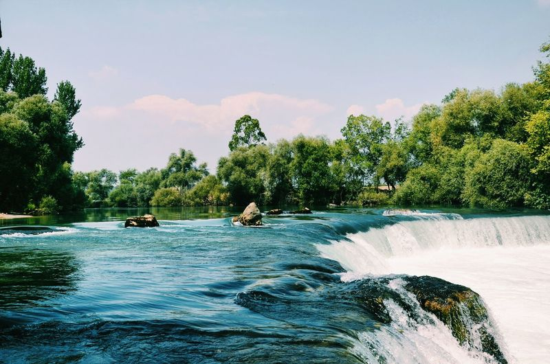Scenic view of manavgat waterfall
