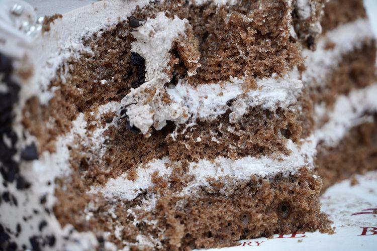 Close-up of ice cream during winter