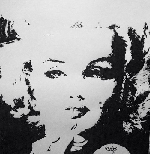 Done with acrylic colors Painting Drawing Art Marlyn Monroe