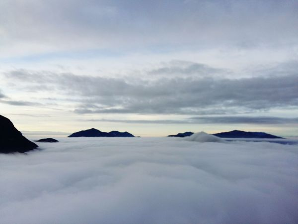 Sunrise Monte San Salvatore,View From The Peak of Monte Bre. Lugano, Switzerland TICINO ♡ Cloudy Cloudy Day Sea Of clouds Samsung Galaxy A5 Showcase: January Cloud - Sky Above The Clouds Hidden Gems