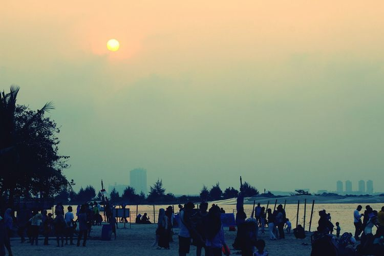 Sunset @ ancol beach city