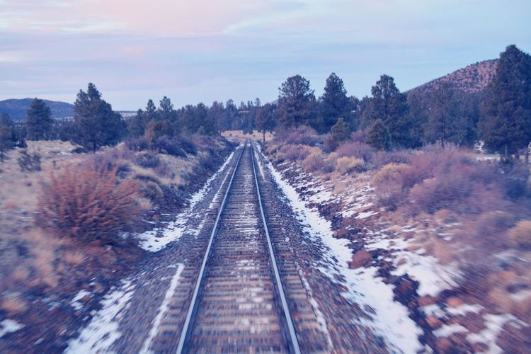 Adventure tracks! The Great Outdoors - 2016 EyeEm Awards Train Ride To The Grand Canyon Train Tracks Outdoors Beauty In Nature Sky Nature Lost In The Landscape