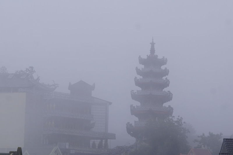 Architecture Building Exterior Built Structure City Day Fog Mist Nature No People Outdoors Sky Tree
