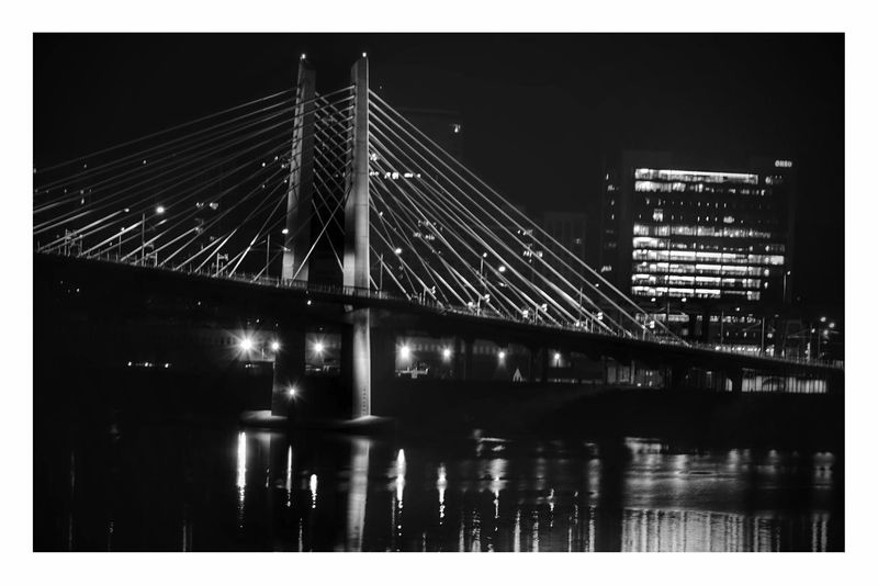 OMSI Dock Portland Afterdark Black&White Night Photography Long Exposure Night Shot Portland Waterfront SummerNights On The River EyeEm 2017 Collection PDX Bridge Lift Willamette River  Pnwcollective Pnwanderlust Pnwdiscovered PNW Photography Pnwisbest My Journey With Photography City Life Cityscape Night Illuminated Pnwexplored