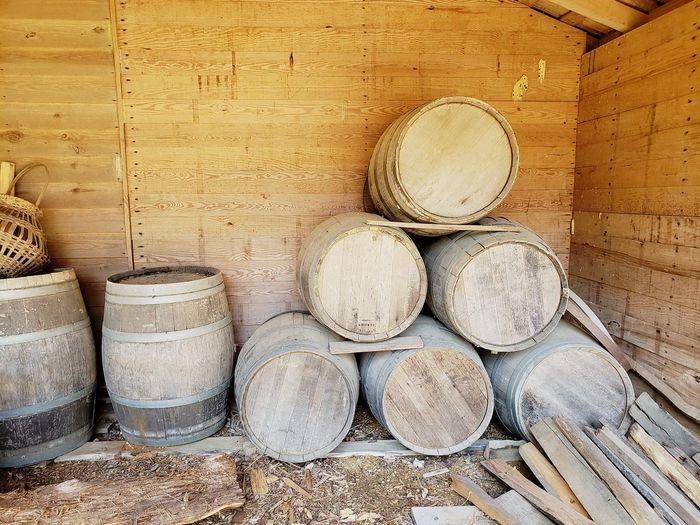 Salt Barrels 1800s Barrels Containers Salt Container Civil War Era Storage Tanks Stack Full Frame Heap Close-up
