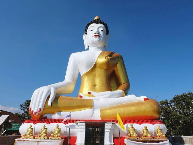 Sathu Buddha Budism Temple Chaingdao Chaing Mai, Thailand Chaingmai Religion Clear Sky