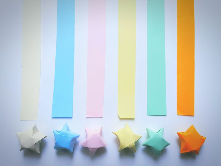Check This Out Pastel Pastel Colors Enjoying Life The Week Of Eyeem Origamiart Origami Creativity Creative Paper Paper View Showcase: December Colorful Colors Stars Origamicolors Pastel Power Art Is Everywhere