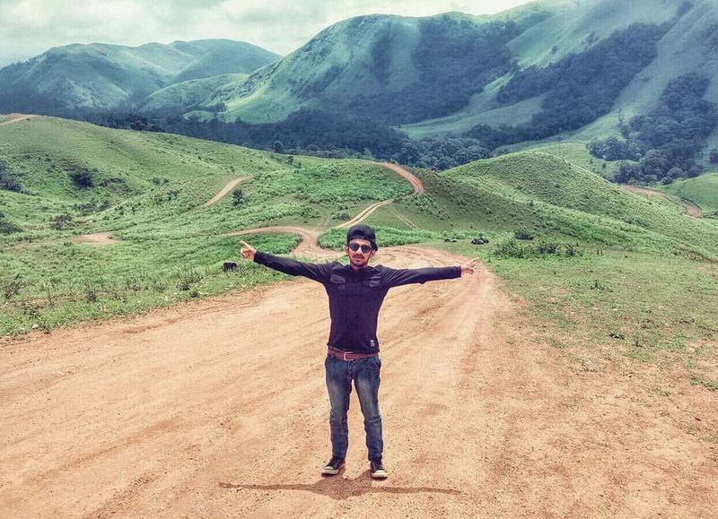 Arms Outstretched Beauty In Nature Black Blue Day EyeEmNewHere Green Happiness Happy Idukki Landscape Lifestyles Love Mountain Nature One Person Peace People Photography Portrait Real People Sathram Standing Young Adult