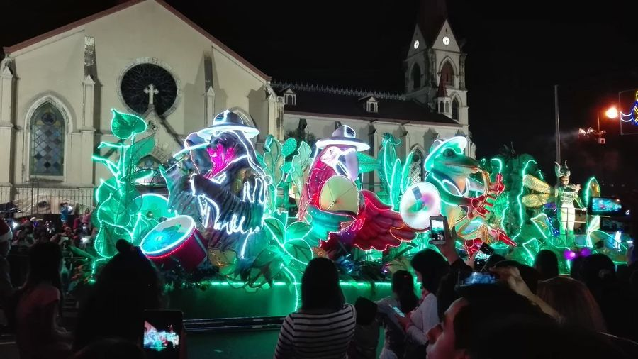 Festival de la luz Summer Road Tripping Building Exterior Carroza Enjoyment Entertainment Event Illuminated Multi Colored Nightlife