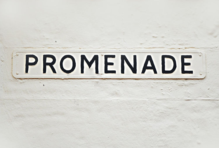 Promenade Sign Victorian Wall Sign Street Photography Victorian Sign White Wall