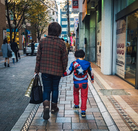 Little Captain Japan Japanese  Japan Photography Street Streetlife Streetphotography Colorphotography Candid People People Watching Family Holding Hands Love Kid Cute Superhero Em10mkii Olympus Cooljapan