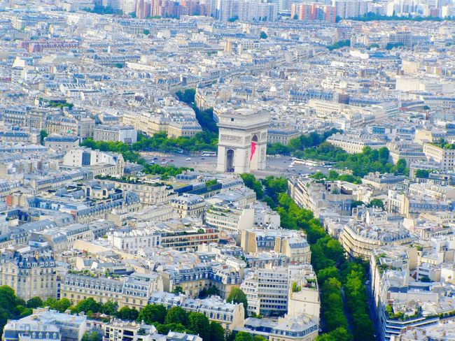 Paris, France  Paris Triumph Arch Cityscape City Aerial View Architecture Building Exterior Travel Destinations High Angle View No People Outdoors Patriotism Skyscraper Ferris Wheel Day Cultures