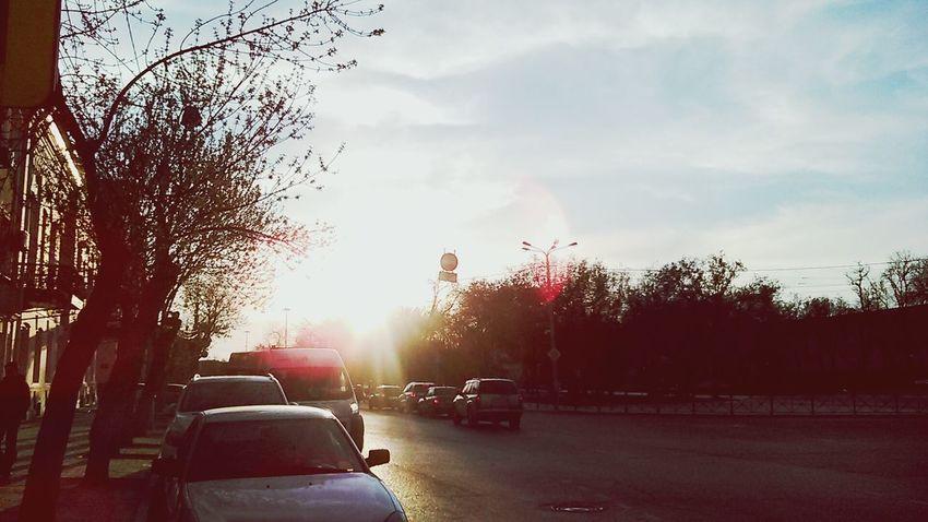 Солнце заходит за Астрахань Sunlight No People Sky Day Tree Sunset Outdoors