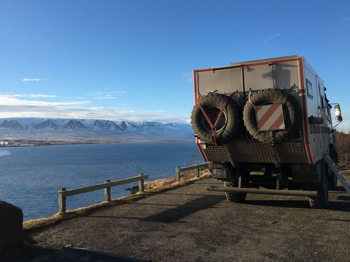 Place Break Good Night Great View Blue Sky Camper Iceland_collection Iceland116