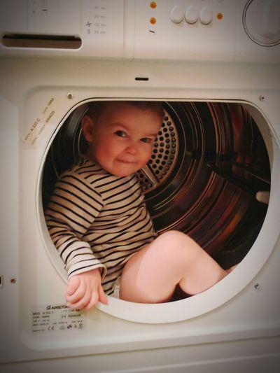 Kári í þurrkaranum. One Person Childhood Babies Only Babyhood Indoors  Washing Machine Dryermachine Children Of Eyeem Children Of Iceland