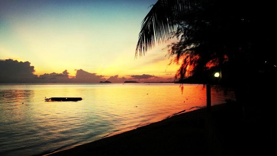sunset in Thailand! Amazing!