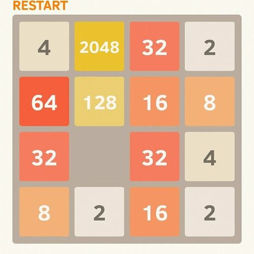 2048 Solved with the Xtile . Win Addicted pieceofshit