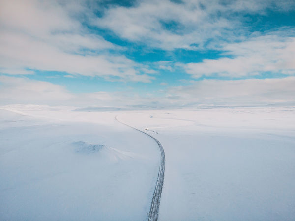 Only one way Aerial Shot DJI Mavic Air DJI X Eyeem Drone  Drone Shot Iceland Memories Mavic Ai Mavic Air One Way Travelling Aerial Aerial View Beauty In Nature Cloud - Sky Cold Temperature Day Environment Idyllic Landscape Mavic Nature No People Non-urban Scene Only One Way Outdoors Scenics - Nature Sky Snow Tranquil Scene Tranquility White Color Winter