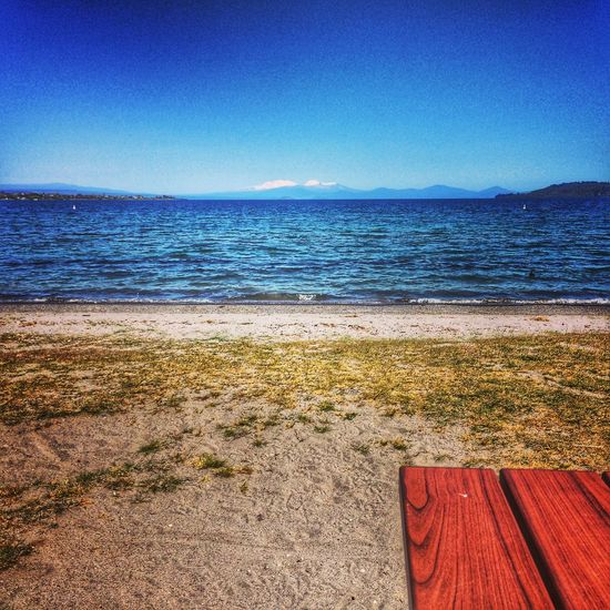 Beach Beauty In Nature Blue Day Horizon Over Water Lake Taupo Nature New Zealand Scenery No People Outdoors Sand Scenics Sea Sky Travel Water