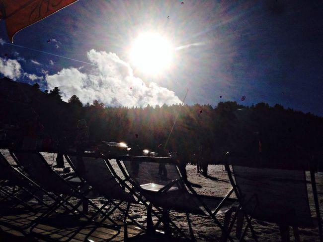 Ski skiing sun winter le lioran