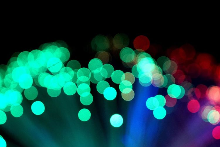 Illuminated Night Defocused Lighting Equipment Light Effect Glowing Circle Pattern Electric Light No People Shiny Christmas Projection Equipment Christmas Decoration Outdoors Black Background Disco Lights Close-up Bukeh Backcloth_MSB Fiber Optic Backgrounds Black Background AI Now