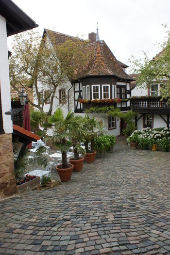 Building Exterior Cobblestone Culture European Building German House German Village House Garden Quaint House
