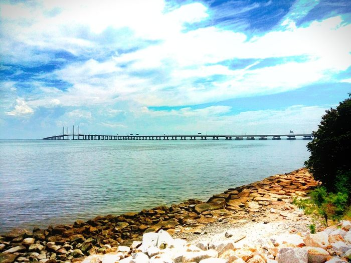 Penang 2nd bridge Cloud - Sky Sea Sky Postcard Bridge View Bridgesaroundtheworld