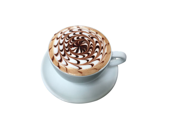 Cappuccino Close-up Coffee Coffee - Drink Coffee Cup Copy Space Crockery Cup Drink Food And Drink Freshness Frothy Drink Hot Drink Indoors  Latte Mug No People Non-alcoholic Beverage Refreshment Saucer Still Life Studio Shot Temptation White Background