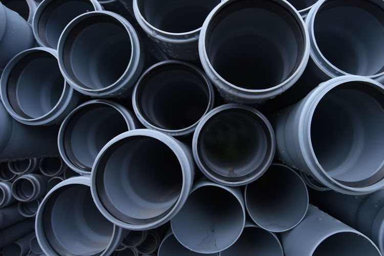 Full frame shot of pipes