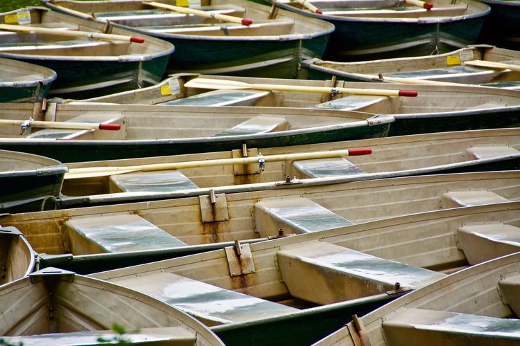 In A Row Full Frame Nautical Vessel Large Group Of Objects No People Backgrounds Day Outdoors Water
