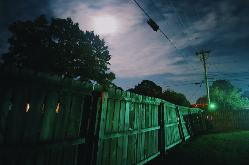Cable Cloud Cloud - Sky Crooked Fence Illuminated Light And Shadow Long Exposure Moonlight Night Nightphotography Power Line  Sky Suburbia Night Photography Night Lights Twisted Lg G5 Moonlit LGG5 Vscocam