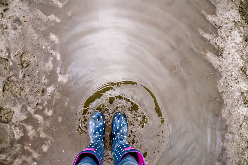 Gumboots Lüneburger Heide Muddy Waters Well-dressed Wellies  Wellington  Close-up Day Directly Above High Angle View Human Body Part Human Leg Lifestyles Low Section Mud Muddy One Person Outdoors People Personal Perspective Real People Rubber Boots Shoe Standing Water Wet