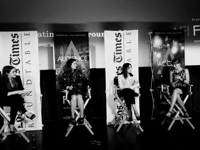 QVHoughPhoto Afifest Hollywood Interview Celebrity Movies (: Film Maryelizabethwinstead Roundtable Aubreyplaza Bellaheathcote Blackandwhite IPhoneography IPhone4s