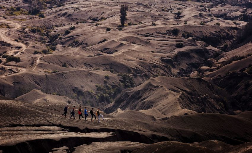Follow Each Other Mountain Adventure Hiking Landscape Volcanic Landscape Volcanic Crater Hiker Volcano First Eyeem Photo