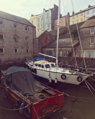 Harbor Tenby West Wales Boating Refurbishment Architecture Built Structure Building Exterior Water Nautical Vessel