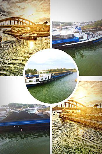 Grand péniche sur le canal