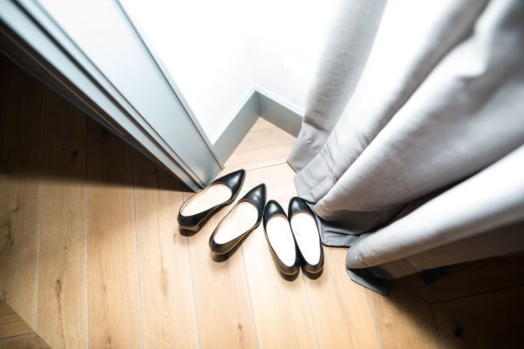 Black Shoes!!  Black Shoes Close-up Hardwood Floor High Angle View Indoors  No People Pair Shoe Still Life Two Pairs Of Shoes Woman Shoes Wood Wood - Material