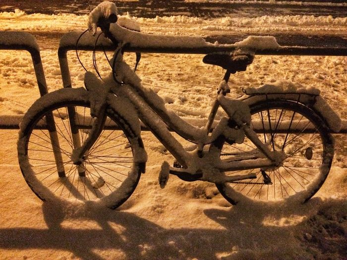 Snowy Bike Sunlight Transportation Outdoors Bicycle Day Sand Wheel Shades Of Winter Shades Of Winter