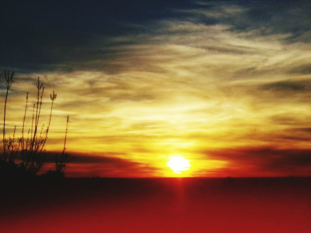 sunset, sun, silhouette, sky, beauty in nature, scenics, nature, orange color, tranquil scene, cloud - sky, dramatic sky, tranquility, outdoors, no people