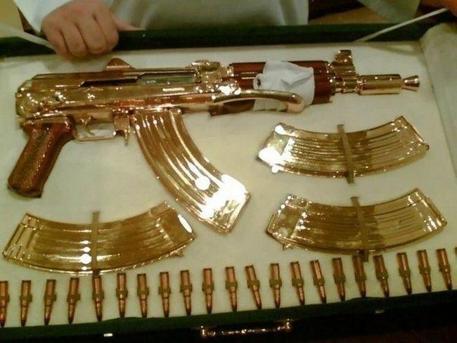 Gold AK47 Kalashnikov