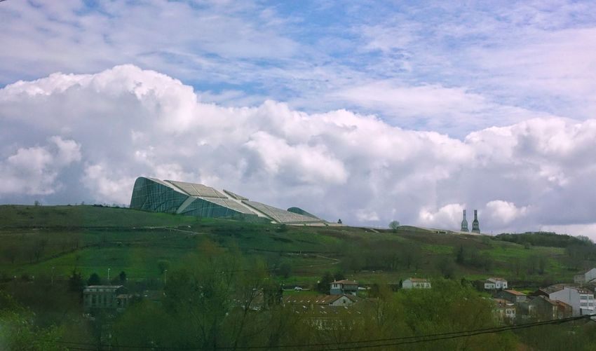 Santiago De Compostela From The Train Window Springtime Spring Cloud - Sky Clouds And Sky SPAIN Spaın Spain♥ Building Exterior Architecture Built Structure Building Nature No People Environment Landscape Outdoors Field Land Sky City Of Culture Galicia Galicia, Spain Modern Architecture Panoramic Hill