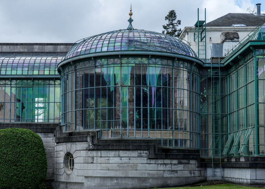 Serres De Laeken (Brussels). Architecture Building Building Exterior Built Structure City Cloud - Sky Day Dome Glass - Material Government Low Angle View Modern Nature No People Outdoors Reflection Sky Spirituality Travel Travel Destinations