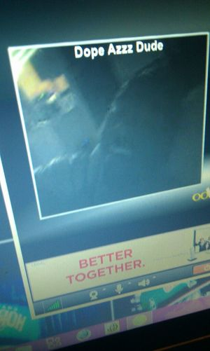 got him laughing on Oovoo. lol :) I love this man right here