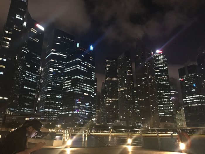 Building Exterior Illuminated Night City Architecture Built Structure Lighting Equipment City Life Skyscraper Outdoors Road Urban Skyline Sky Cityscape No People Women Around The World Mobile Conversations Women Around The World