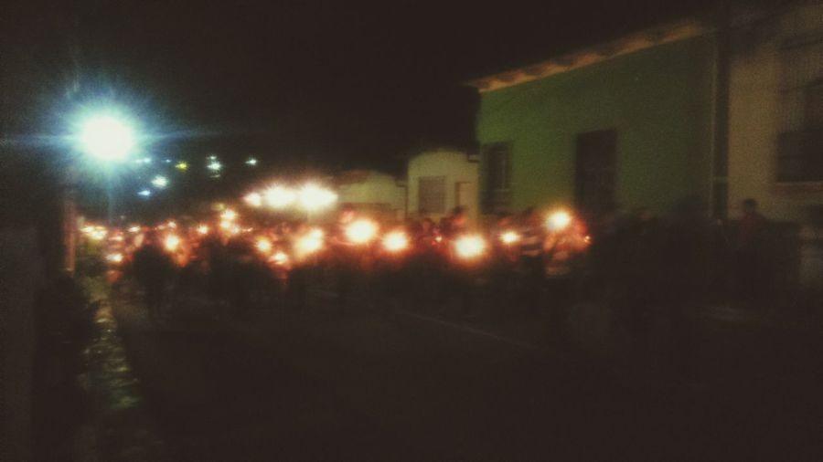 Nahuizalco El Salvador procesion de las velitas...