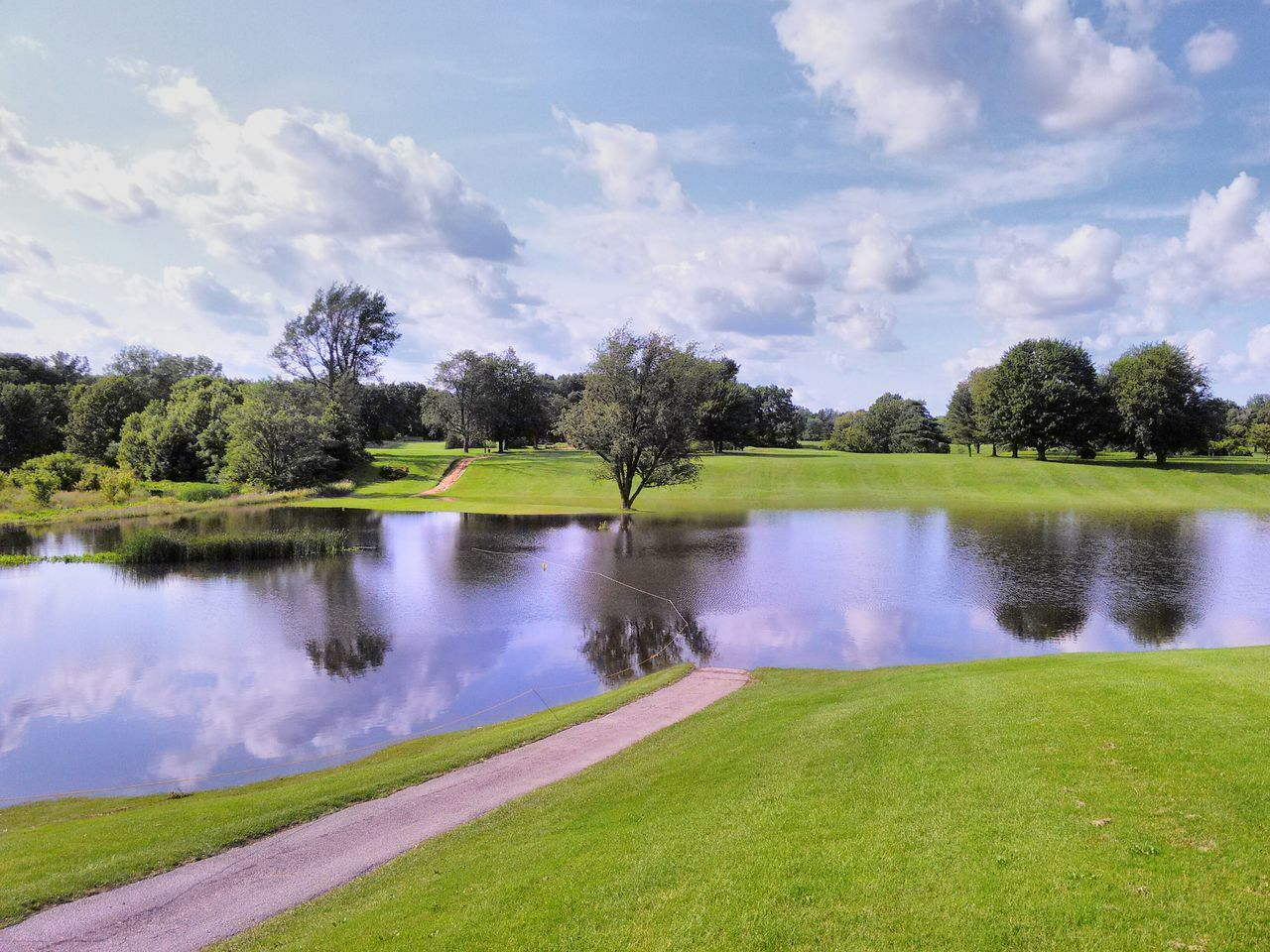 Flooded Golf Course Flood Golfcourse Water